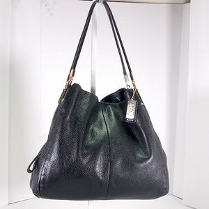 Coach Leather Hob Bag Black